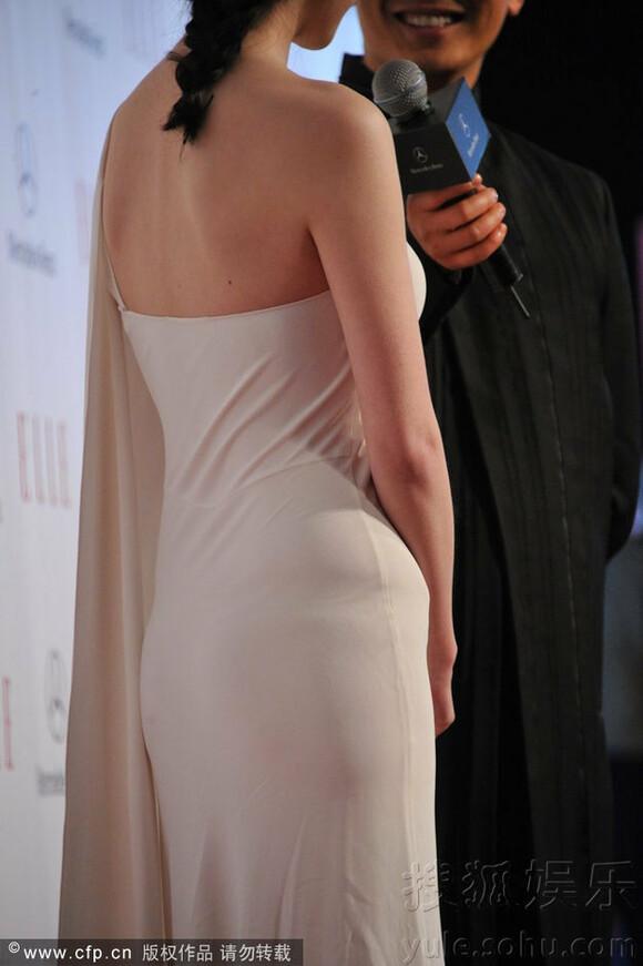 倪妮自信身材豪放不穿内衣 内裤勒痕清晰可见