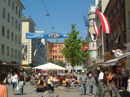 奥地利,美丽的Bregenz