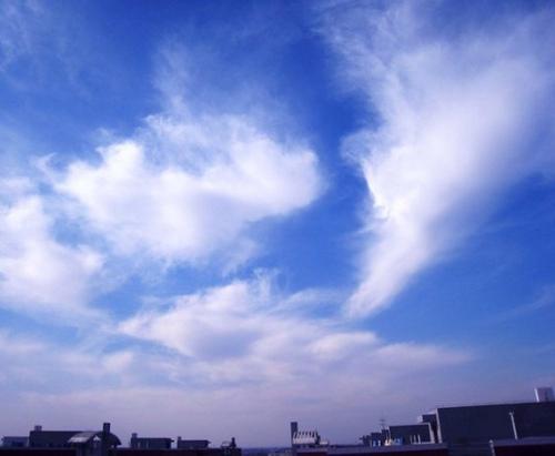 楼顶的四角天空