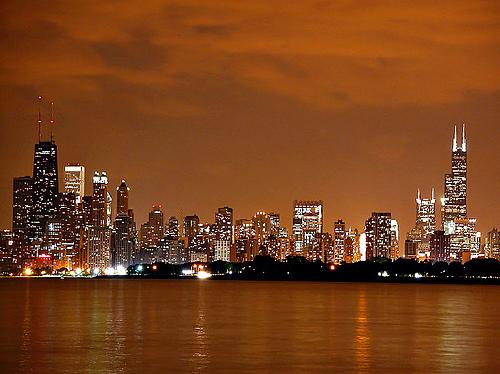 美丽的芝加哥街景