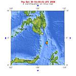 2008年10月30日上午6点17分印尼塔劳群岛发生5.2级地震