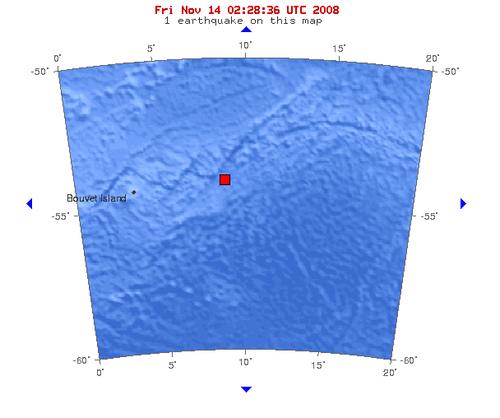 2008年11月14日凌晨3点05分布韦群岛海域发生5.8级地震