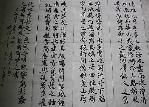 著名书画家冯允甫书法《腾王阁序(局部)》