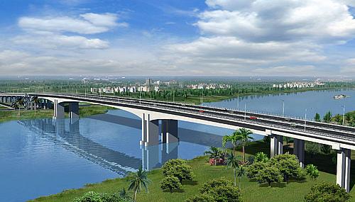 广东东莞市东莞大道延长线东莞水道特大桥