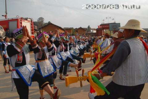 云南.弥勒.少数民族彝族舞蹈.阿细跳月