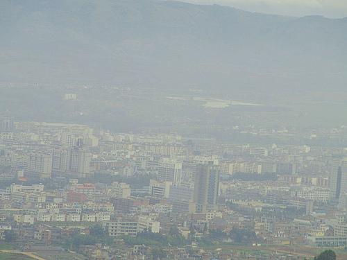 云南.弥勒.城市俯瞰风景