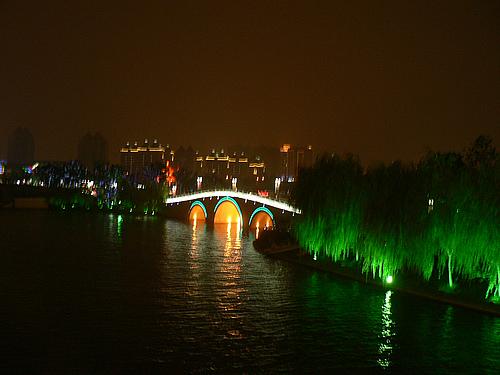 撩人的金鸡湖夜景