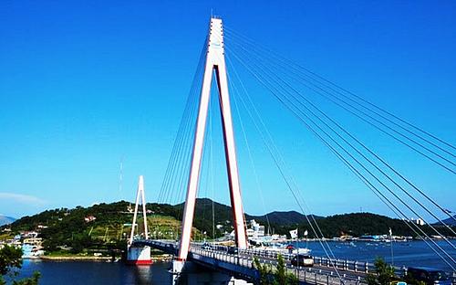 韩国全罗南道丽水市突山大桥