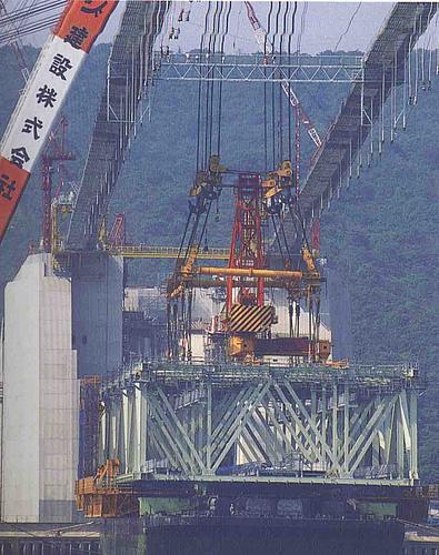 日本神户濑户内海明石海峡大桥