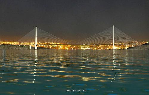 俄罗斯海参崴俄罗斯岛跨海大桥