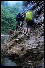 雨中的浙东大峡谷