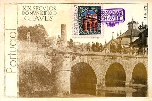 葡萄牙沙维什城塔梅加河古罗马桥