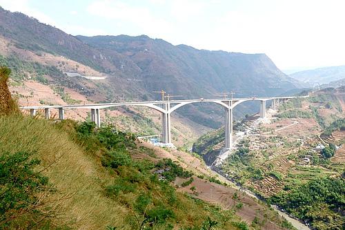 贵州六盘水水城水盘高速北盘江特大桥