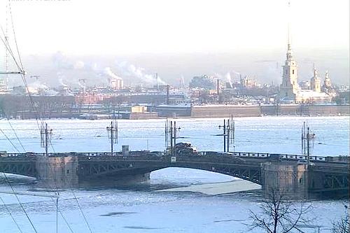 俄罗斯圣彼得堡市冬宫大桥