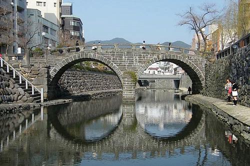 日本长崎中岛川眼镜桥
