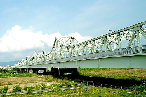 日本新泻长冈信浓川长生桥